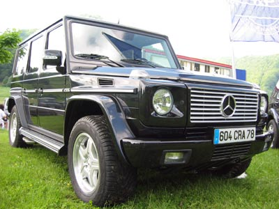 mercedes g55 amg 400 cv sous le capot d 39 un 4x4. Black Bedroom Furniture Sets. Home Design Ideas