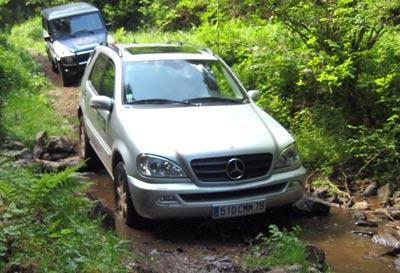 Mercedes ML et tout terrain font bon ménage -