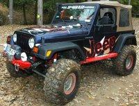 Une préparation Jeep TJ 4×4 au format XXL.
