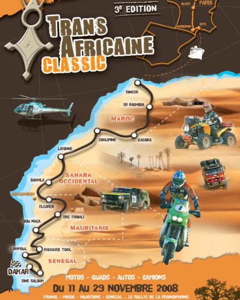 parcours de la Transafricaine 2008