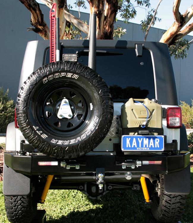 Kaymar : pare choc jeep JK et porte roue