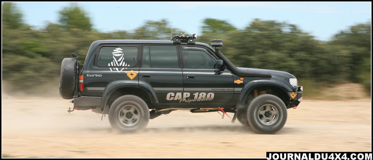 HDJ 80 préparation raid  façon CAP180