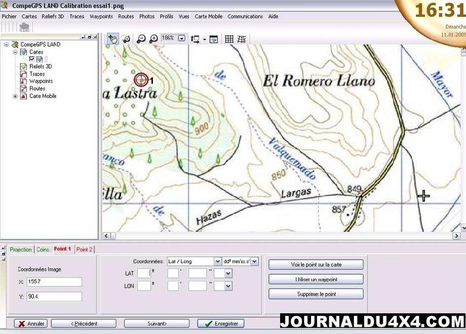 Logiciel navigation gps Comp Gps
