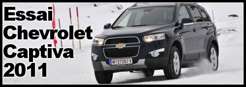 Chevrolet Captiva 4×4 essai – photo – prix