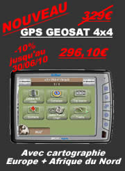 Geosat 4×4 moins cher chez axe4
