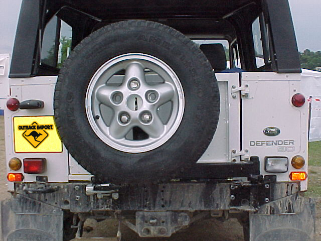 porte roue Kaymar – Defender 90  110