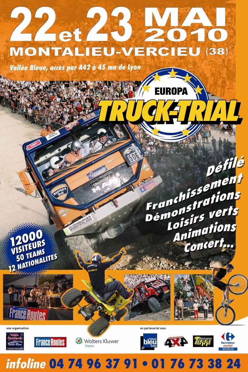 EUROPA TRUCK TRIAL , championnat d'Europe de Trial Camion qui se déroulera les 22 & 23 mai à Montalieu Vercieu (38)