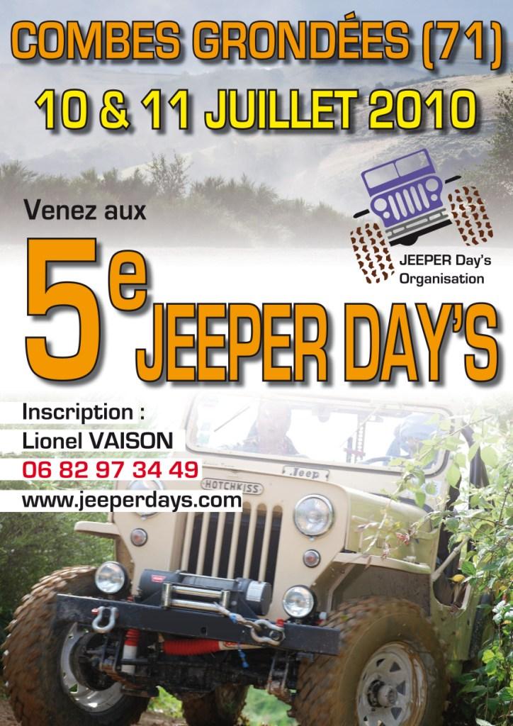 5eme édition du Jeeperdays 10-11 juillet