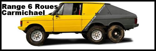 Range Rover 6×4  Carmichael V8 transformé rallye raid