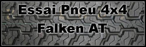 Pneu Falken mixte LA AT : pneu 4×4 tendance route