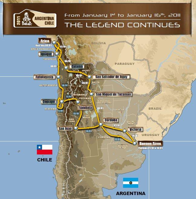 Parcours Dakar 2011