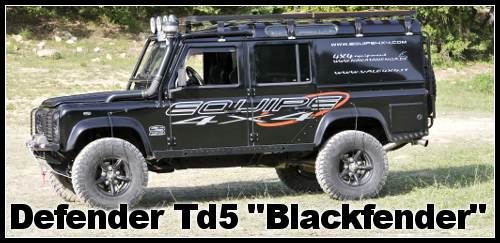 Defender td5 Blackfender