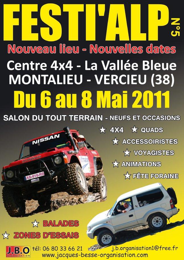 Festi'Alp tout terrain 6-8 mai 2011  Centre 4×4 de la Vallée Bleue à Montalieu-Vercieu (38).