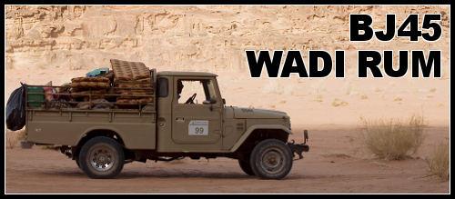 Wadi Rum BJ45 4×4 dans le désert