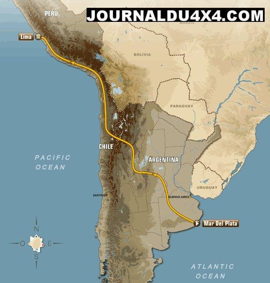 Dakar 2012 : le parcours