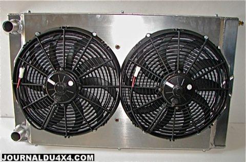 Radiateur arrière de refroidissement compétition