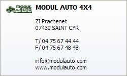 MODUL' AUTO 4X4 portes ouvertes 29-30 avril à Saint Cyr, Annonay