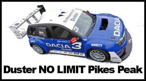 Dacia Duster « No Limit » à l'assaut de Pikes Peak + video