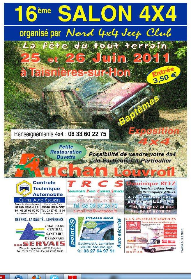 16ème SALON 4×4 les 25 & 26 Juin 2011 à TAISNIERES-SUR-HON – NORD –