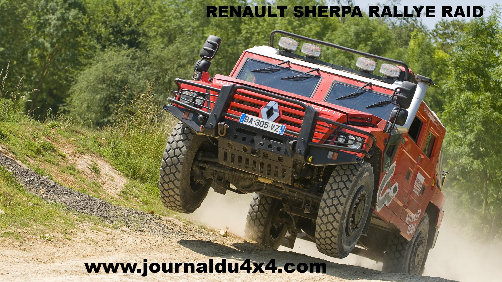 Fond écran Sherpa 4×4 rallye raid