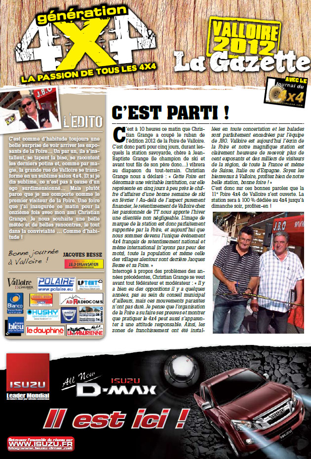 Salon de Valloire newsletter 1 page 1