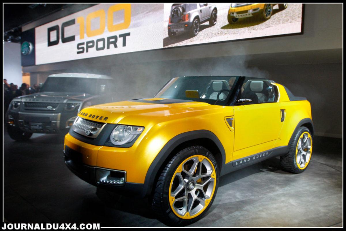 DC 100 Sport : concept car Land Rover révélé à Francfort