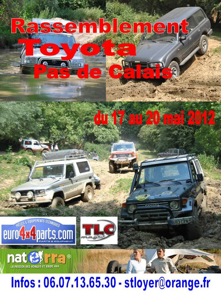 rassemblement Toyota Pas de Calais  17 – 20 mai 2012