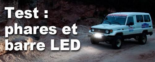 Test phares à LED Vision X sur HZJ 75