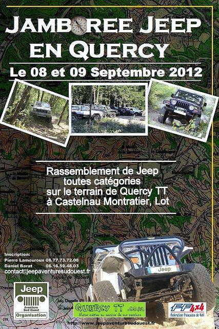2ème Jamboree Jeep en Quercy aura lieu le 08 et 09 Septembre