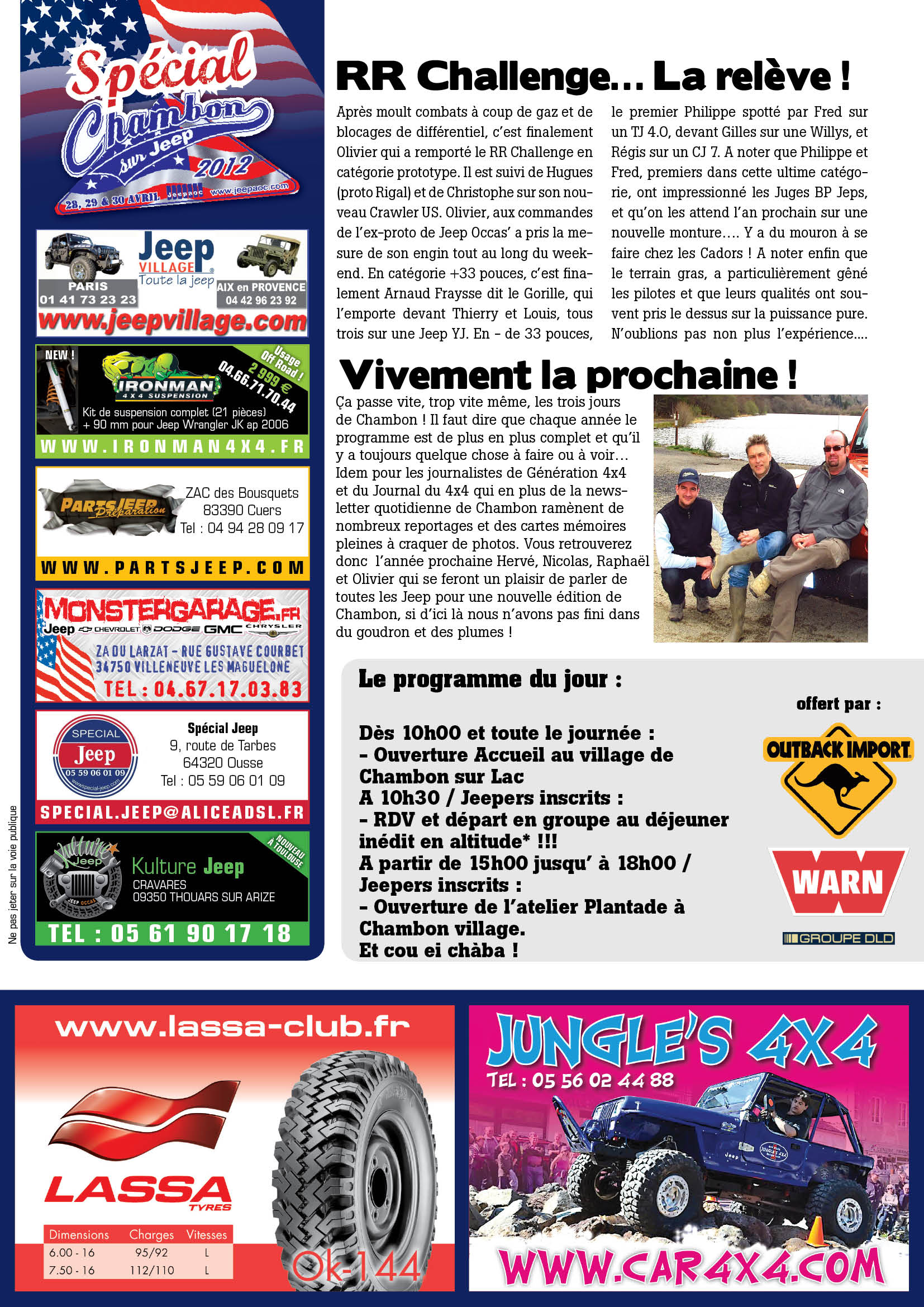 Newsletter Chambon 2012 #3 page 2