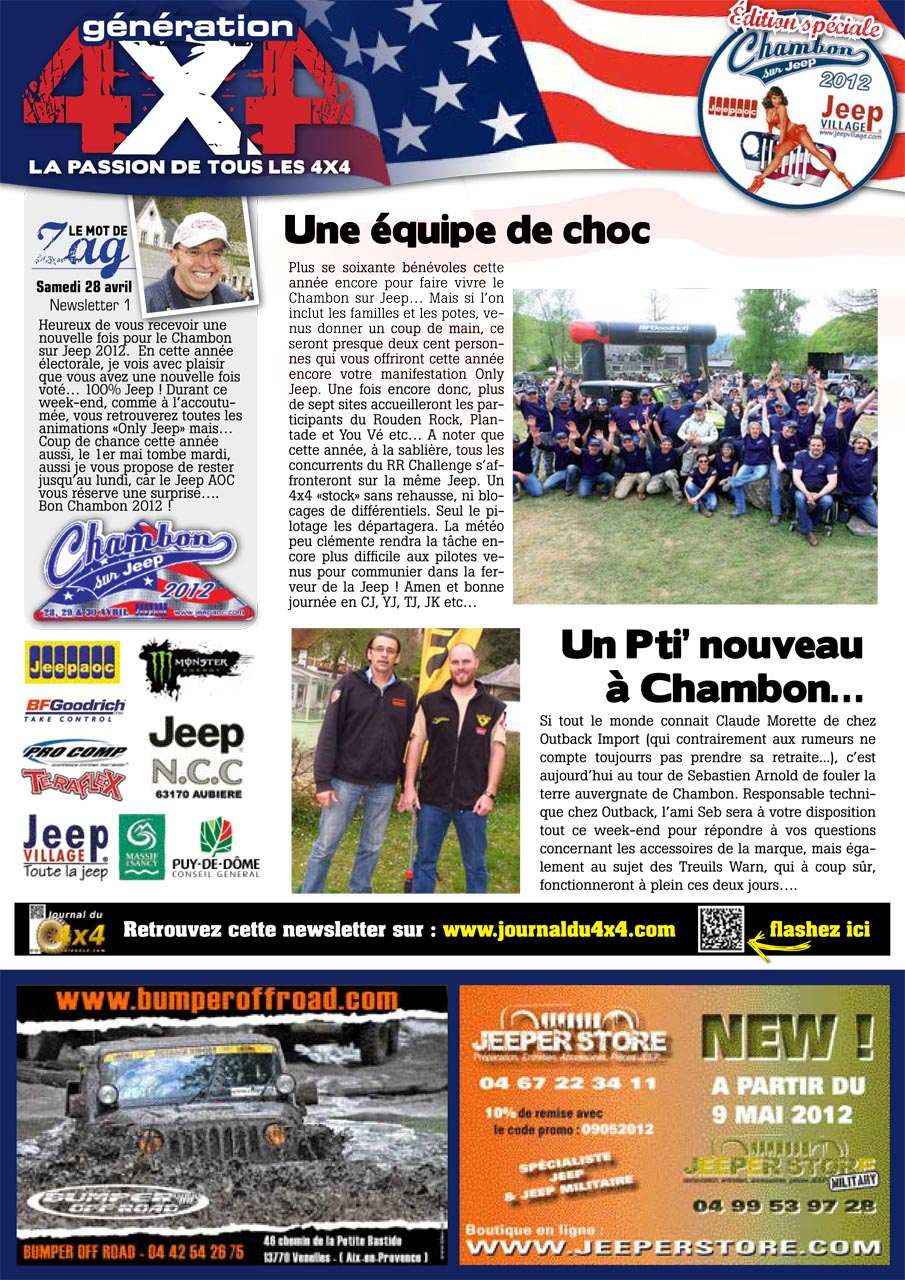 Newsletter Chambon 2012 #1 page 1