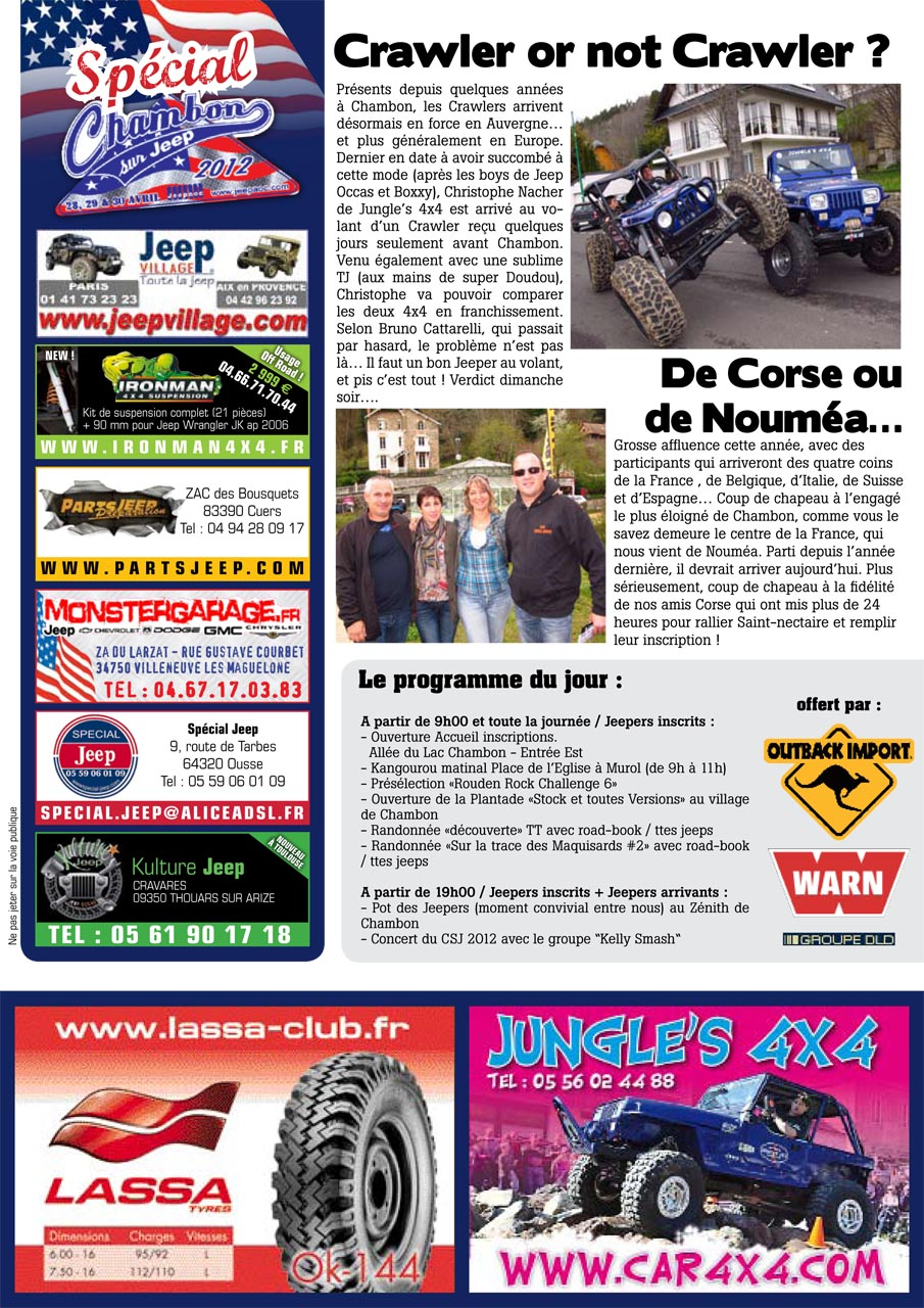 Newsletter Chambon 2012 #1 page 2
