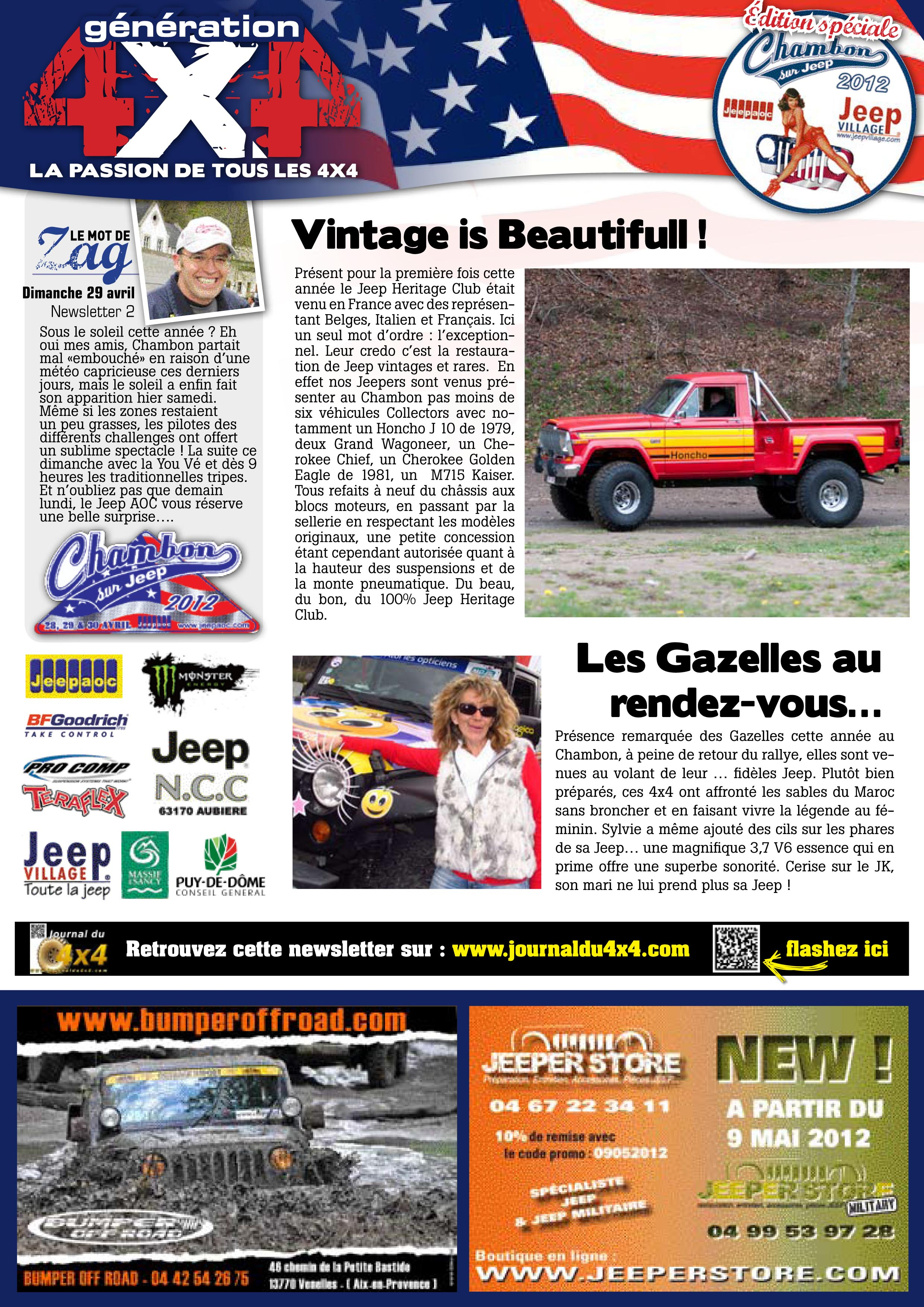 Newsletter Chambon 2012 #2 page 1