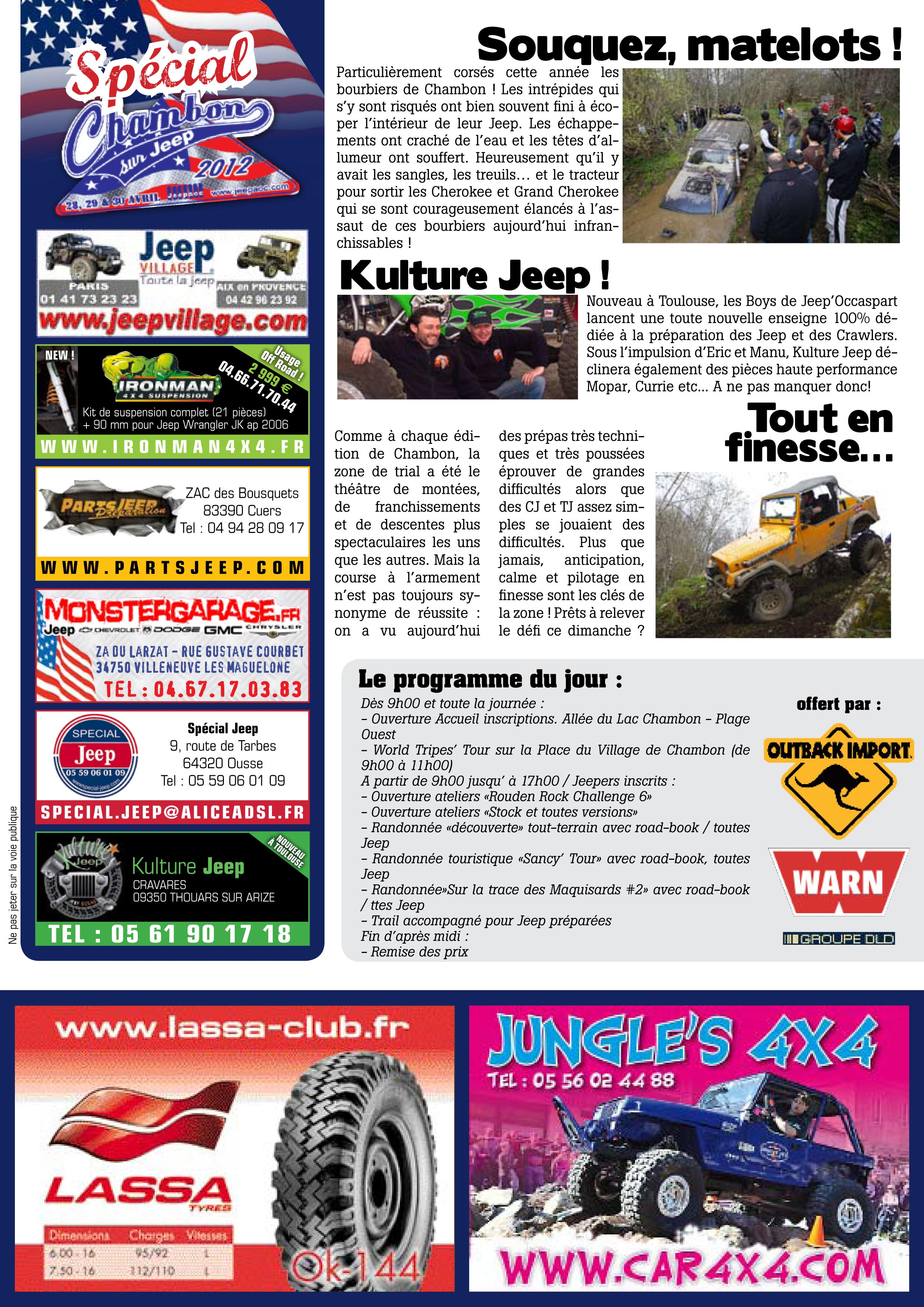 Newsletter Chambon 2012 #2 page 2