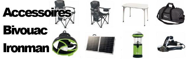 Accessoires camping bivouac chez Ironman