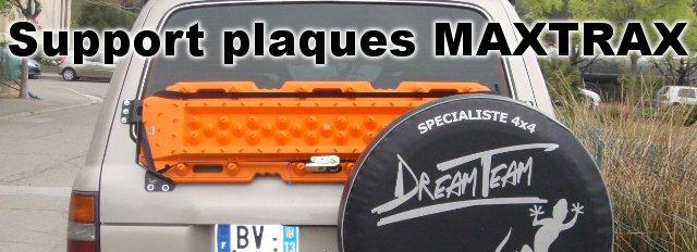 Support de plaques à sable sur Hayon pour HDJ80 spécial plaques «MAXTRAX»