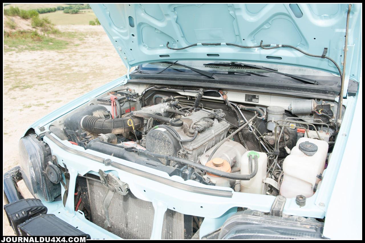 moteur du Jimny 1,3 essence  80 ch. à  6000 tr/mn 104 Nm à 6000 tr/min