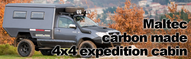 Maltec carbon- made 4×4 expedition cabin