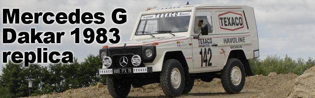 Mercedes G  «Dakar 1983 Jacky Ickx et Claude Brasseur replica»