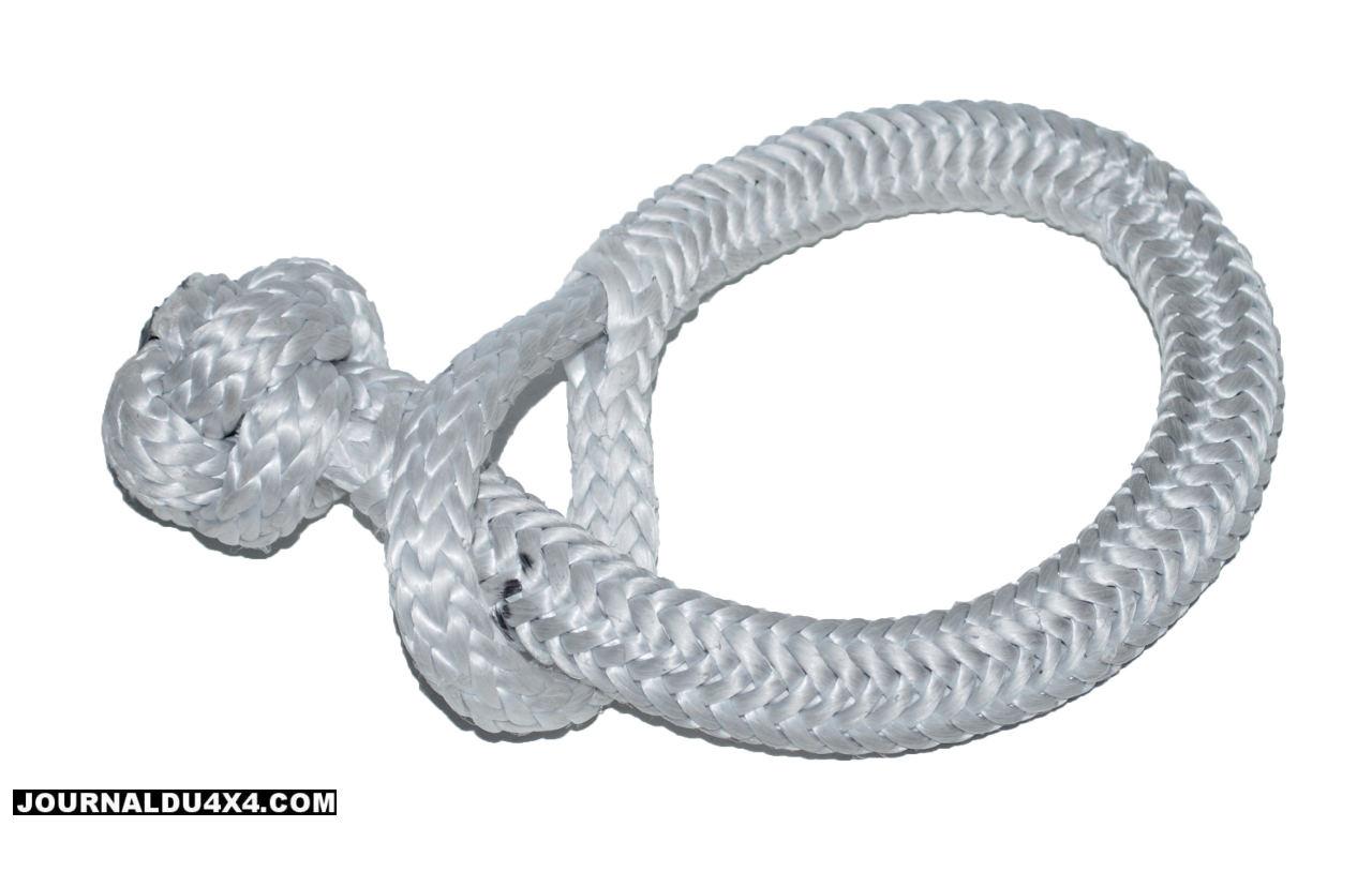 câbles de treuil synthétiques et manilles souples