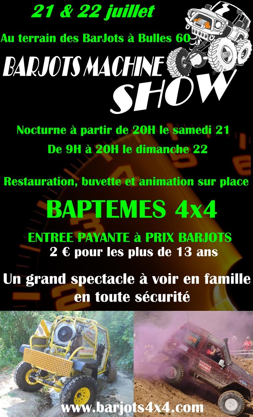Trial BarJots Machine Show 21 et 22 juillet 2012