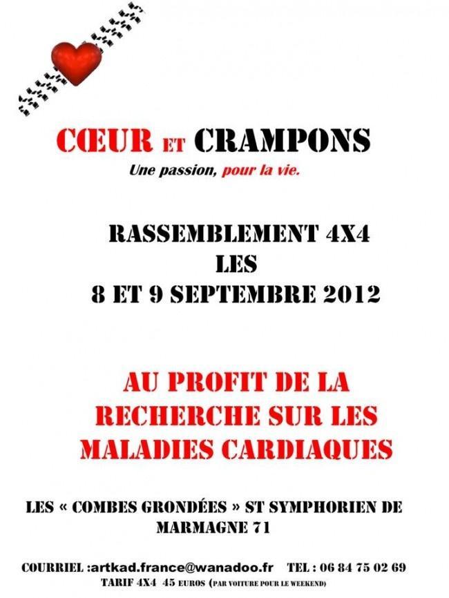 Coeur et Crampons rassemblement 4×4 septembre 2012 aux Combes Grondées