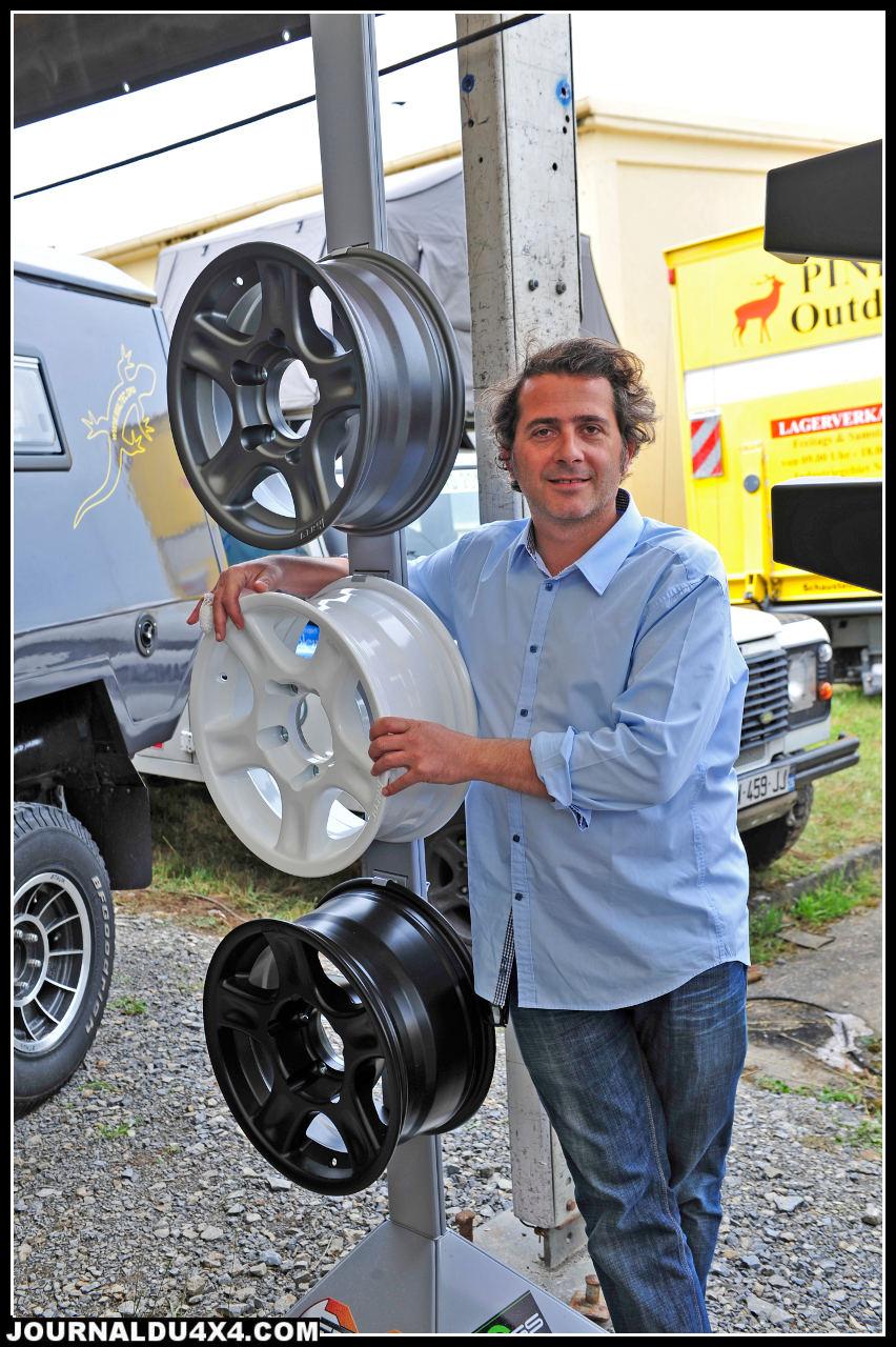 Pour Olivier Cocagne, c'est une visite en tant qu'importateur à Bad Kissingen. Ses jantes Racer s'y vende comme des petits pains.