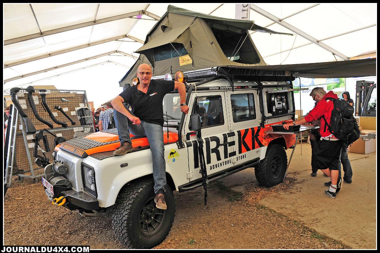 Pour Marc Van Den Bosch patron de LPI, Bad Kissingen, c'est tout sourire. Pour Trekk 4x4, c'est le grand succès.