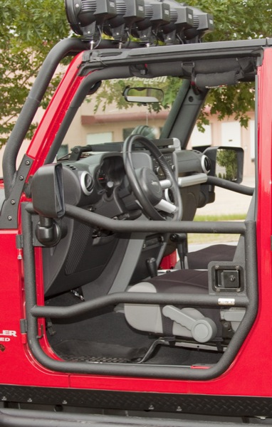 demi porte avant en tube pour jeep wrangler JK 2007-2012