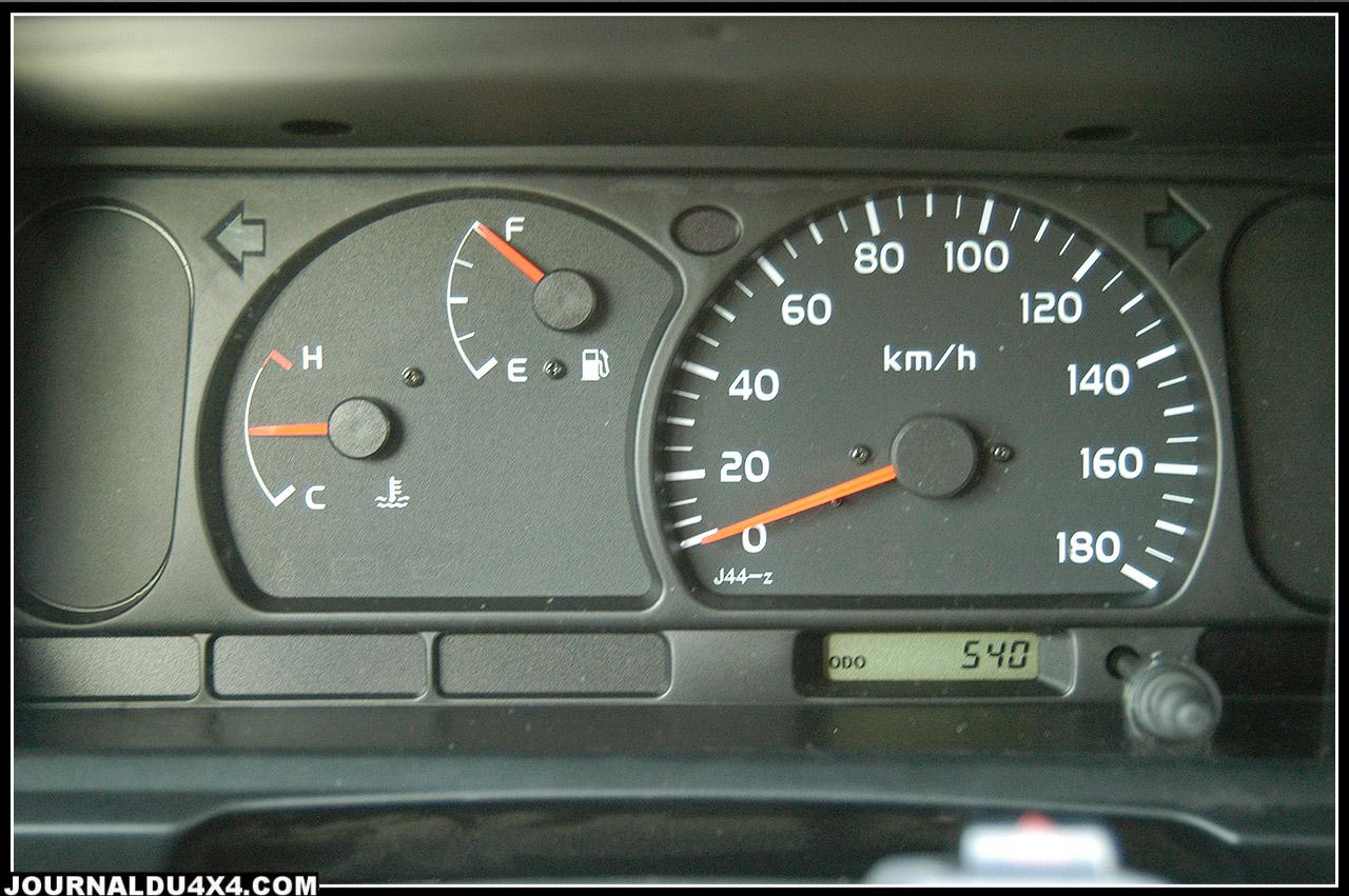 Le tableau de bord Toyota, on ne peut pas se tromper.