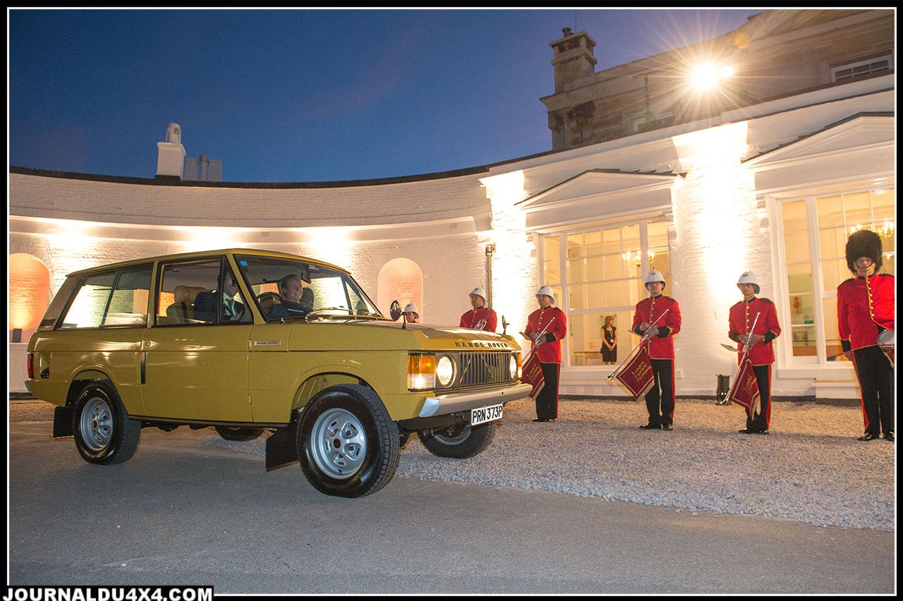 Range Rover classic présent à la soirée de lancement nouveau range rover