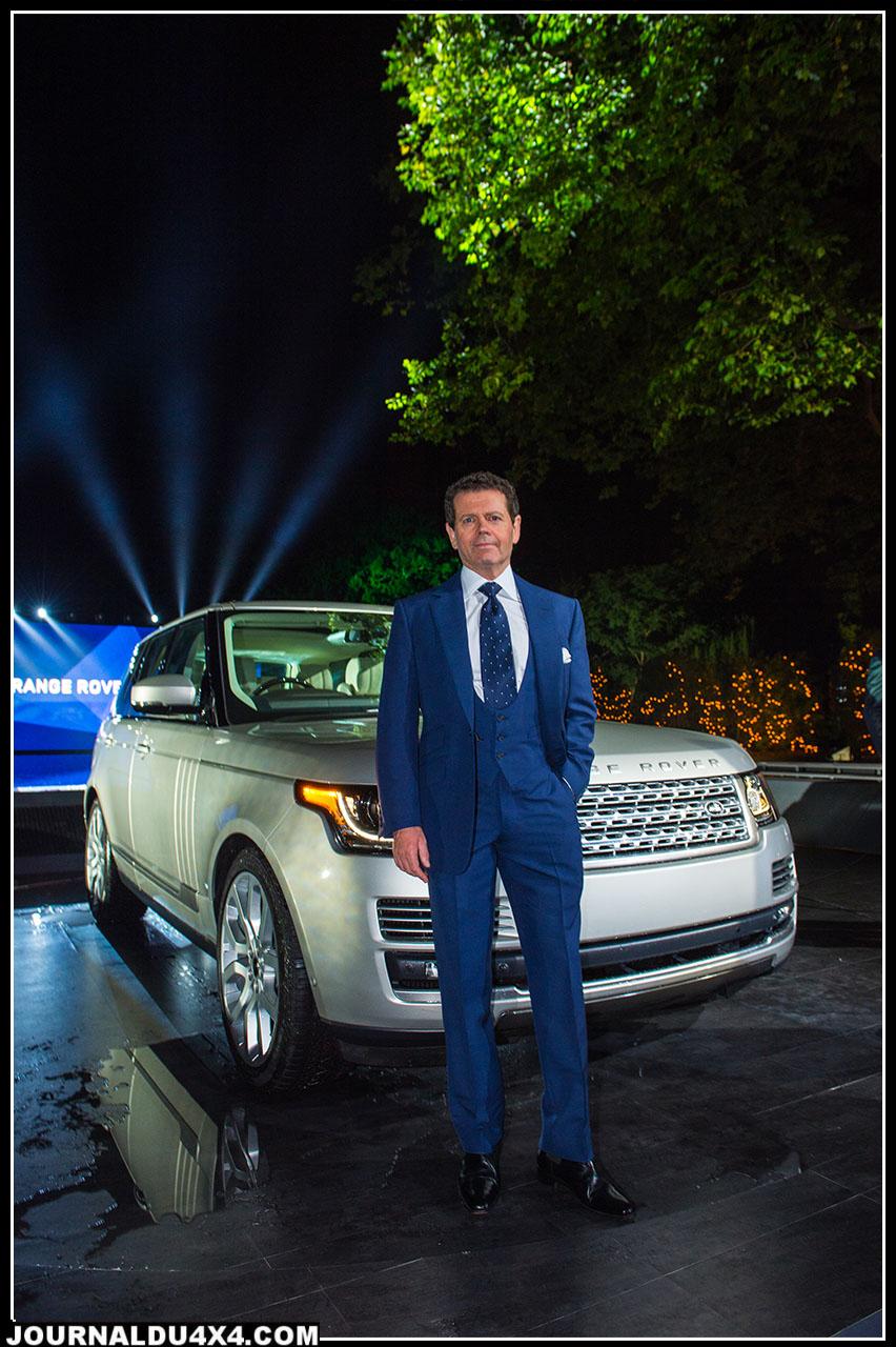 Gerry McGovern, Directeur du Design et Ingénieur en chef de la créativité de Land Rover