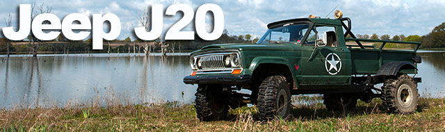 Jeep J20 Pick Up  Wild and wide