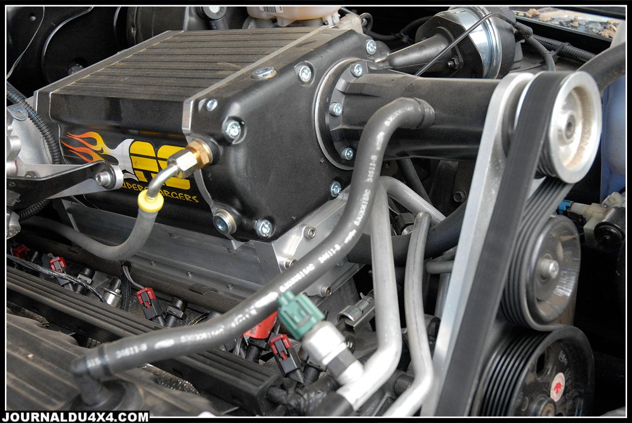 Et bien sur le compresseur Avenger Superchargers.